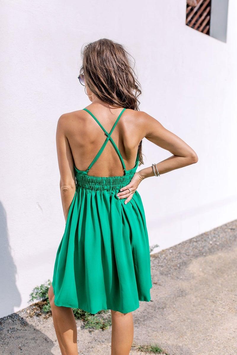 Walking On Sunshine Dress- Green