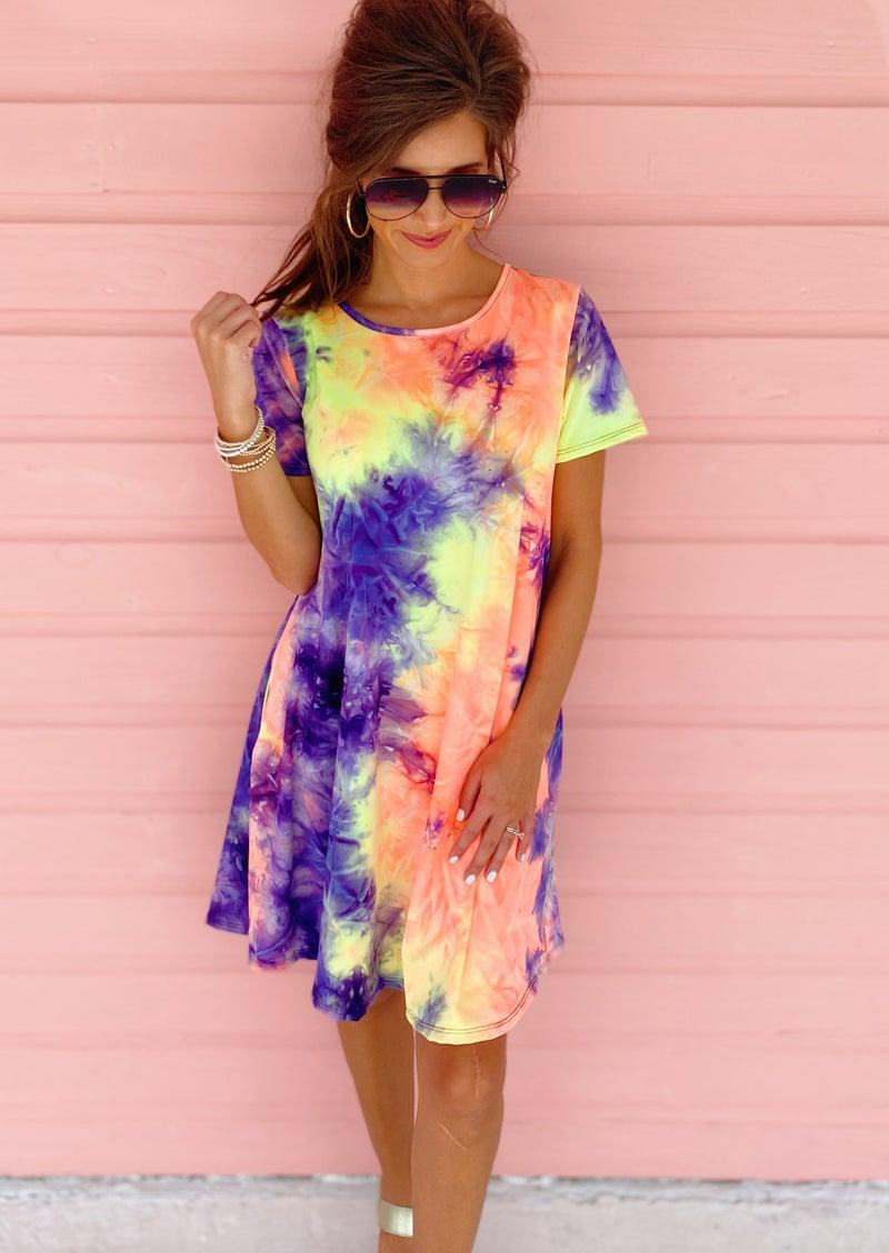 Layne Colorful Tie Dye Dress