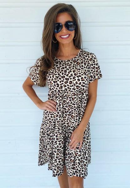 Leona Leopard Ruffle Dress