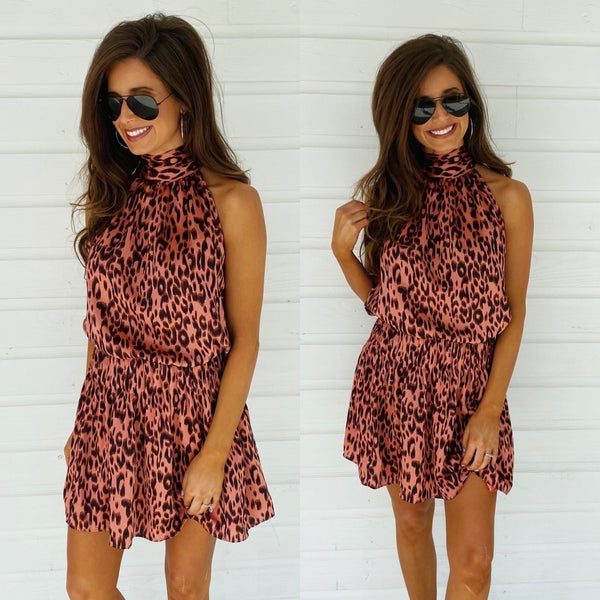 Coral Cutie Spotted Dress