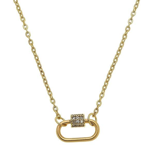Layla Mini Oval Lock Necklace