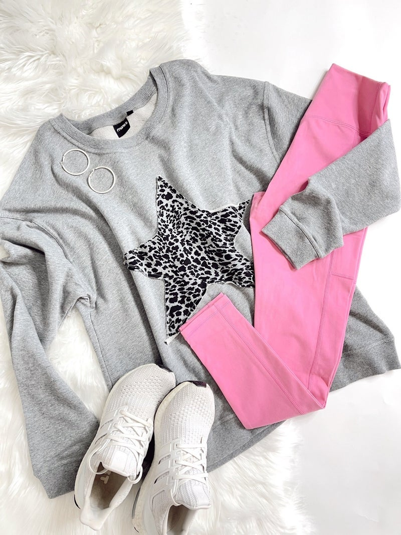 Cheetah Star Pullover