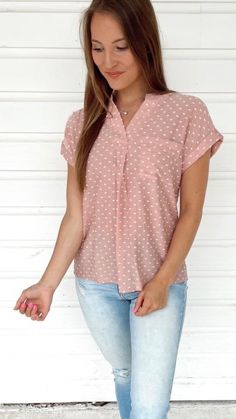 Dusty Rose and Spotted Top