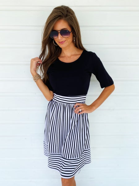Sophia Striped Bottom Dress
