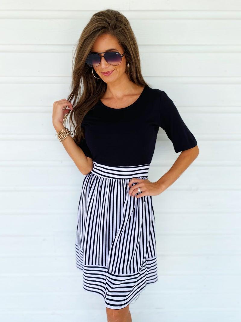 Sophia Striped Bottom Dress