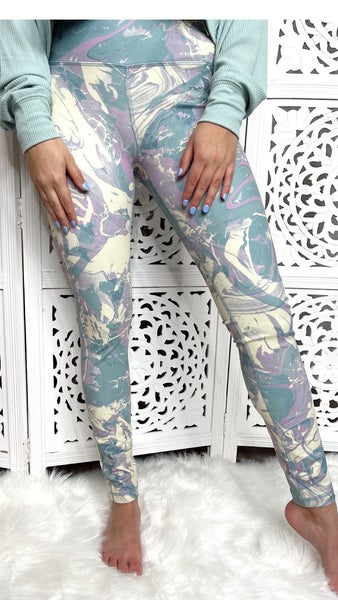 All The Fun Leggings- Mint Mix
