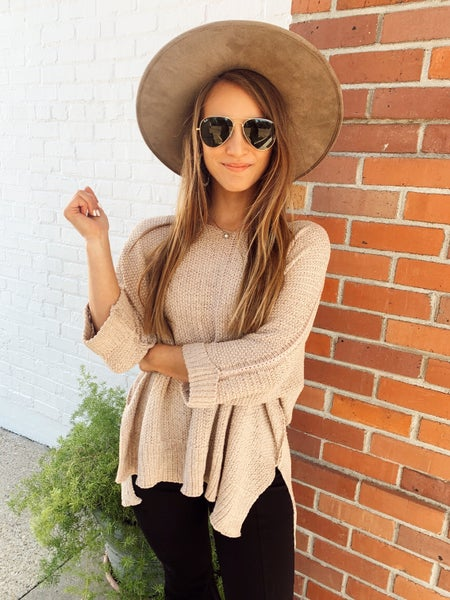 Oakley Taupe Knitted Sweater