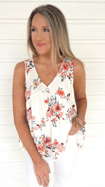 You're The One Floral Tank