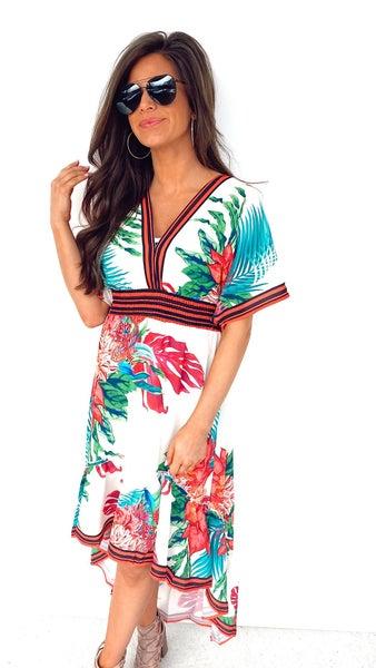 Take Me to the Tropics High Low Maxi Dress