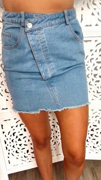 Hannah Light Denim Skirt