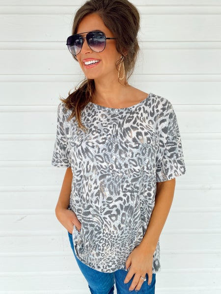 In The Jungle Animal Print Top *Final Sale*