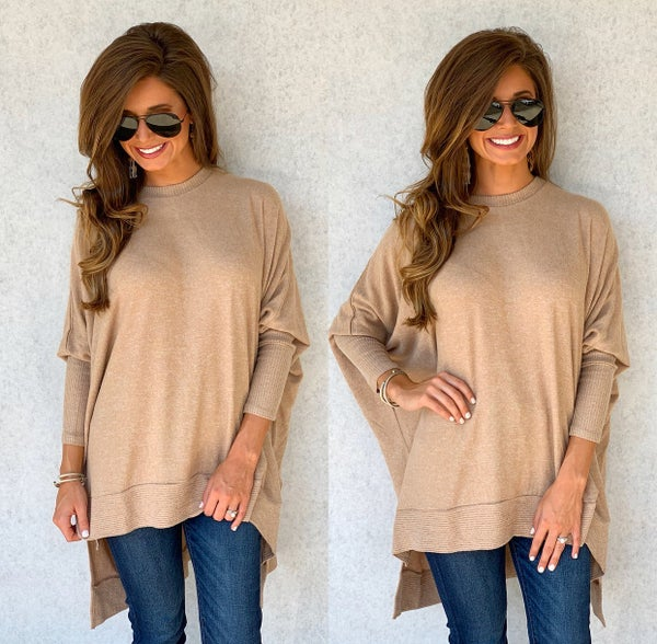 Beige Relax Fit Sweater