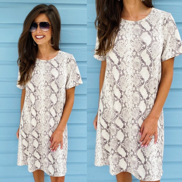 Heartbreaker Snake Print Dress