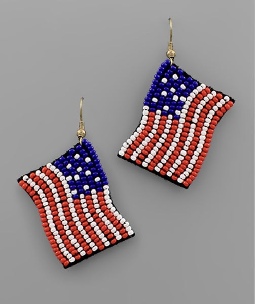 American Honey Flag Earrings
