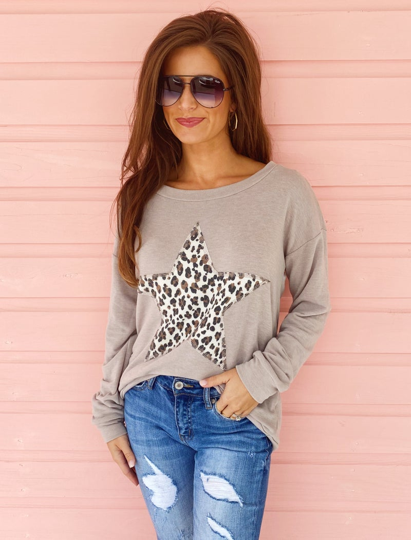 You're A Star Leopard Top