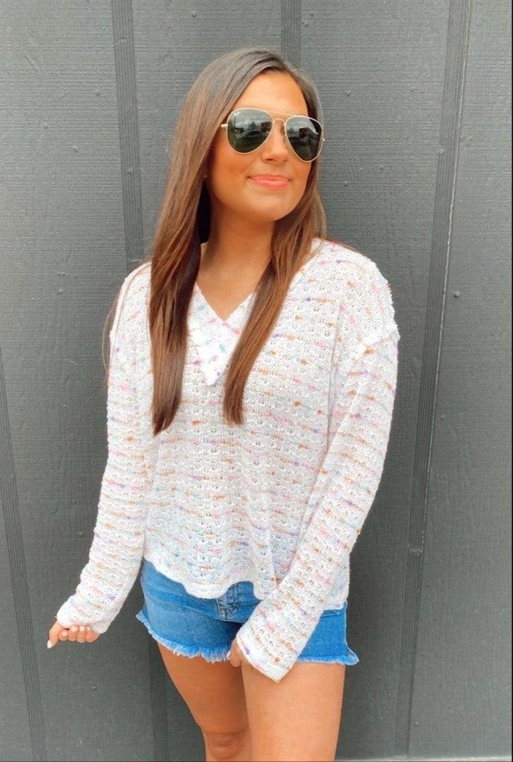 Kennedy Lightweight Sweater -White
