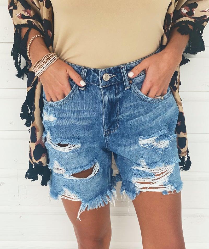 Lilian Distressed Shorts