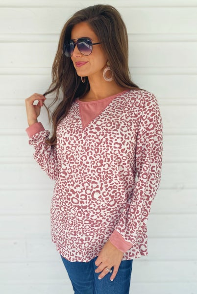 Mauve Cheetah Print Top