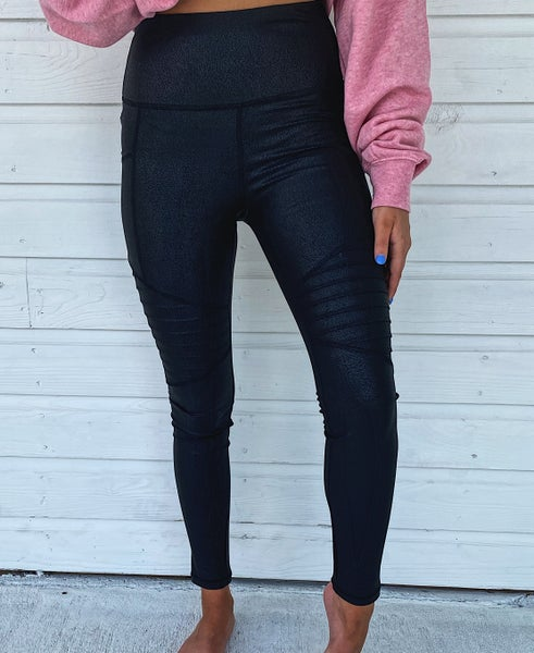 Black Shimmer Leggings