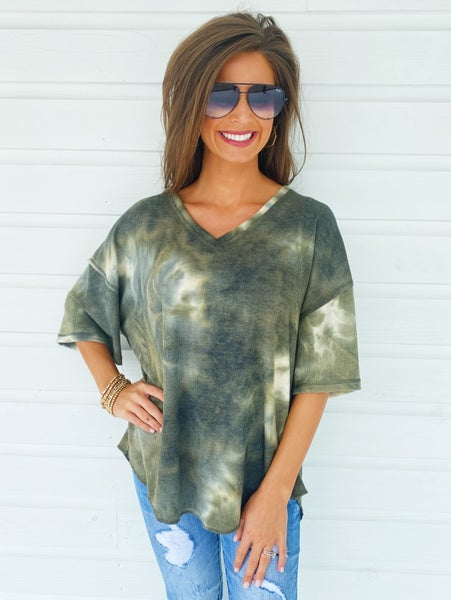Don't Forget Me Top- Olive