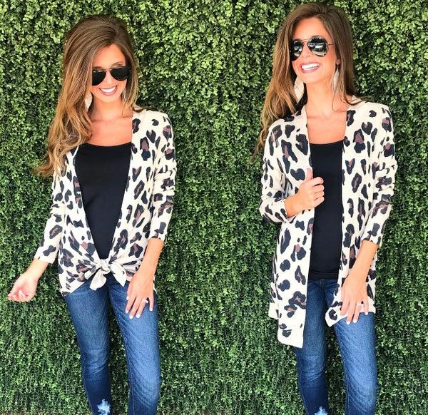 Lead the Way in Leopard Cardigan
