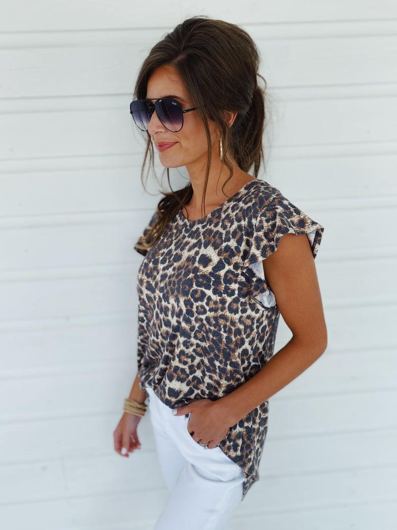 Jasmine Leopard Top