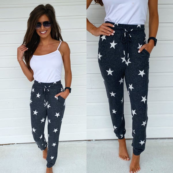 Charcoal Star Joggers