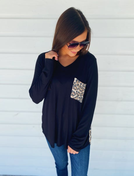 Lots To Love Leopard V-Neck Top *Final Sale*