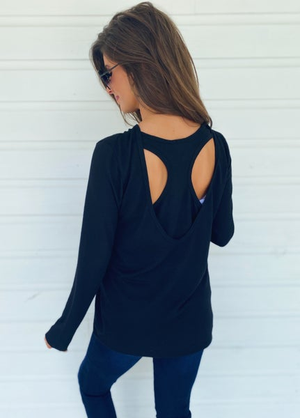 Bonnie Black Open Back Top