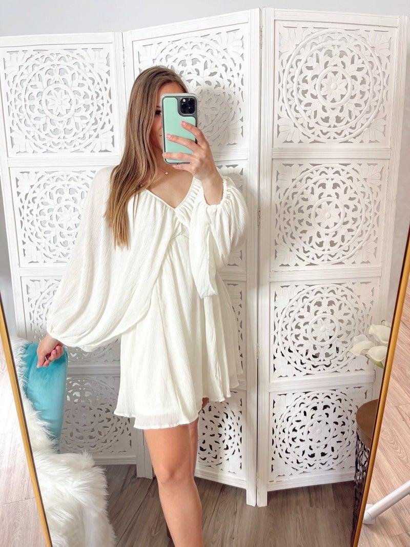Carson Cream Mini Dress
