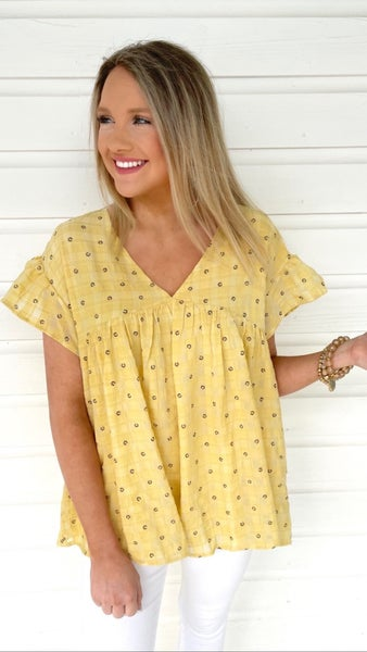 Marigold Fields Baby Doll Top