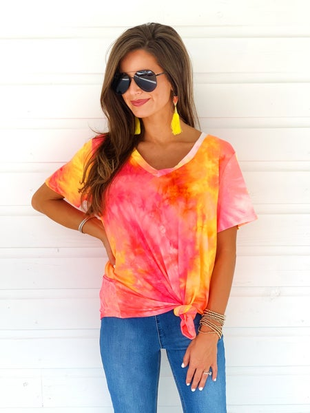 Passion Pink Tie Dye Top