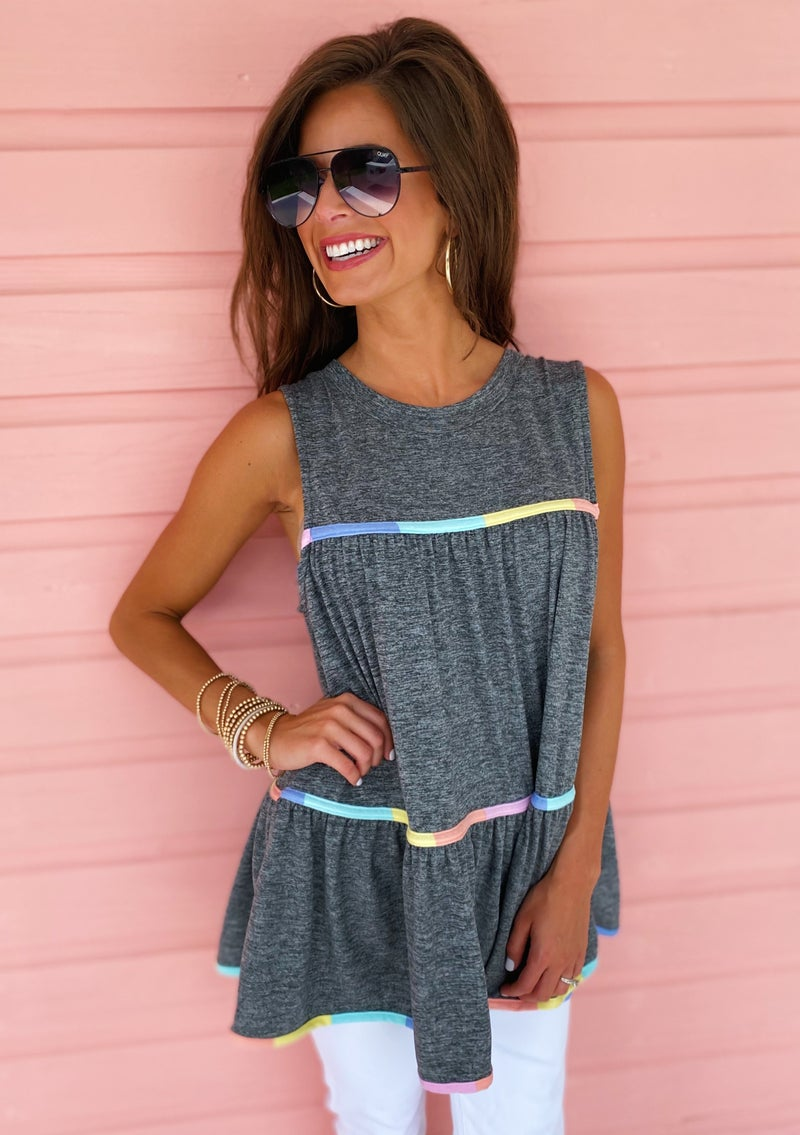 Heather Baby Doll Top