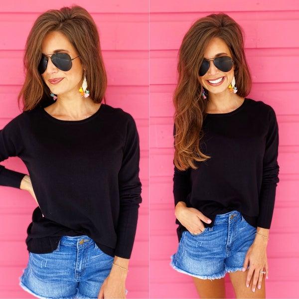 Brielle Black Sweater