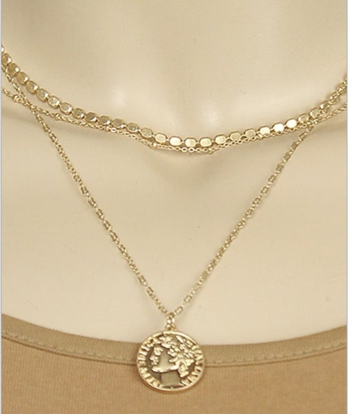 Goldilocks Coin Layered Necklace