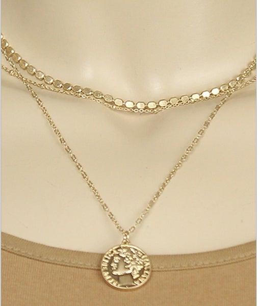 Goldilocks Coin Layered Necklace