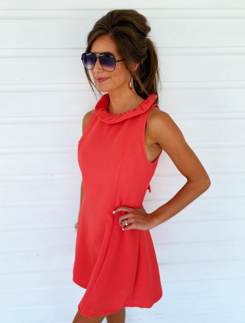 Poppy Tie Neck Dress