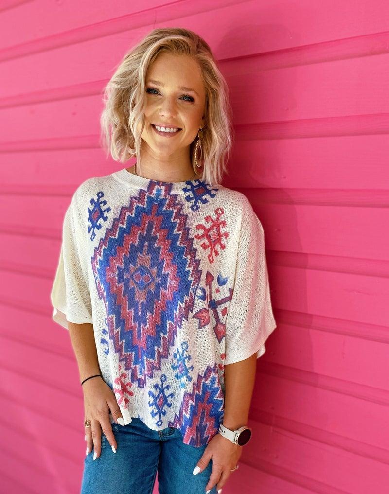 Aztec Printed Sweater