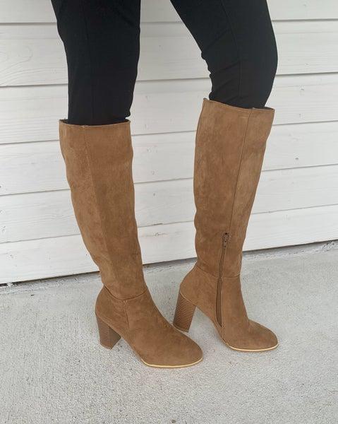 Ava Tall Boots - Camel