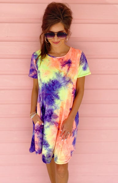 Layne Colorful Tie Dye Dress