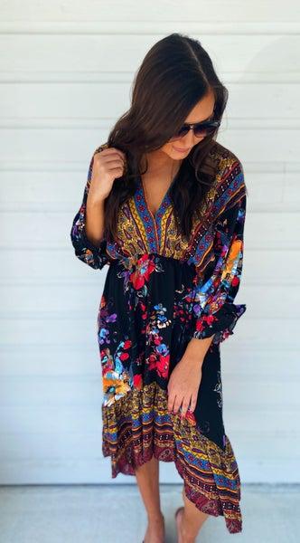 Make You Miss Me Maxi Dress- Black