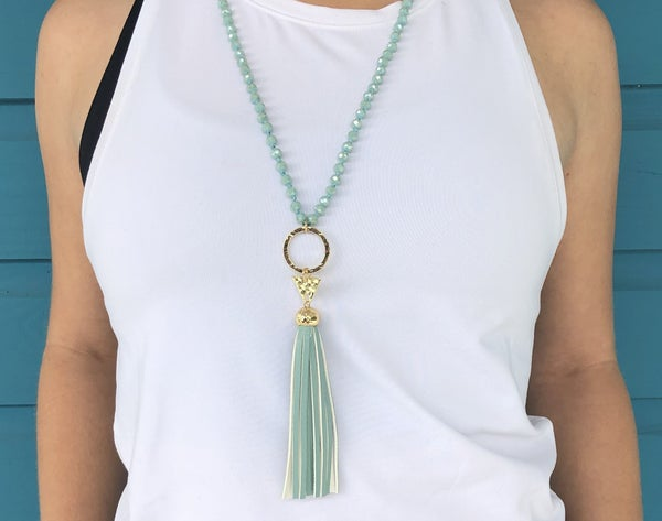 We Mint To Tassel Necklace