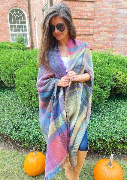 Mad about Plaid Blanket Wrap