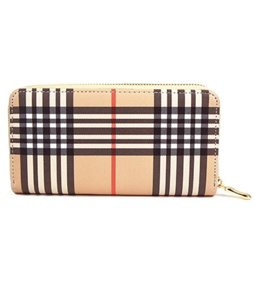 Priceless Plaid Wallet- Taupe