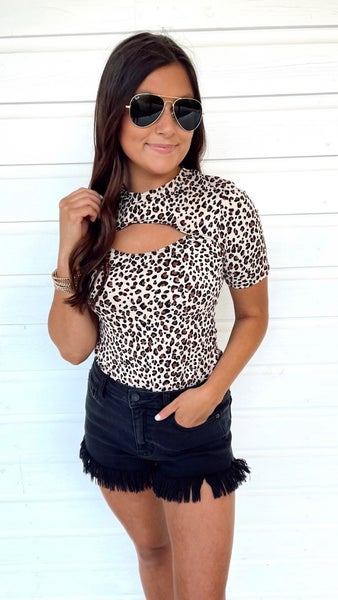 Time To Shine Leopard Print Body Suit