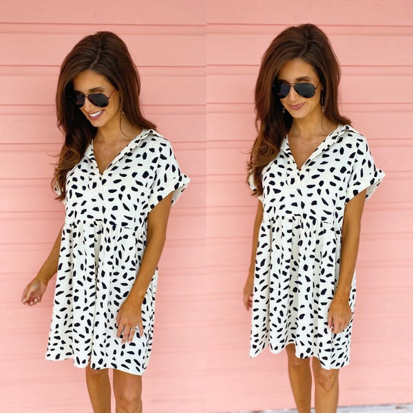 You're A Babe Spotted Dress