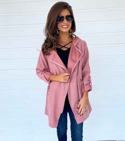 Light Pink Zip Up Jacket