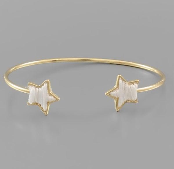 Stare At The Stars Open Cuff Bracelet