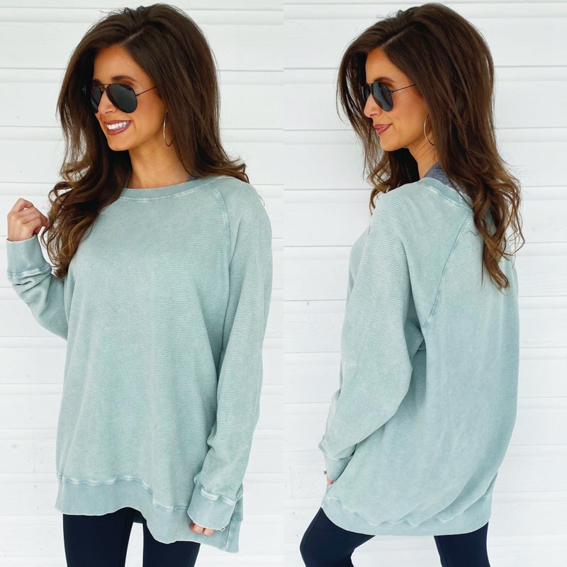 Stealing The Show Sage Pullover