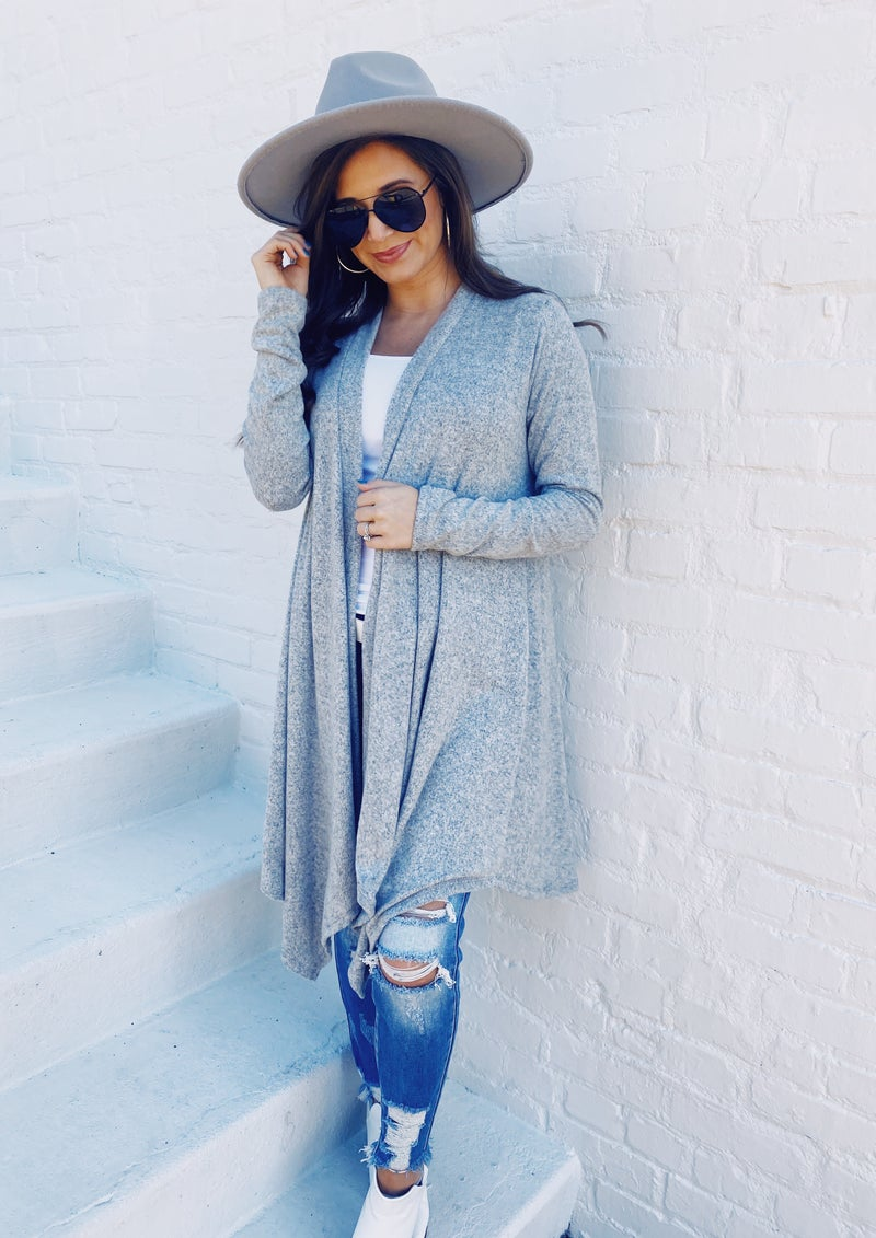 Make It Official Grey Cardigan